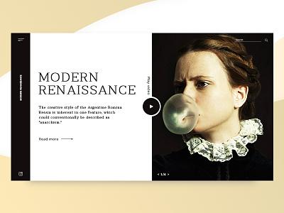 Modern Renassance Web Ui ux flat typography social ui site design color web 2019 design