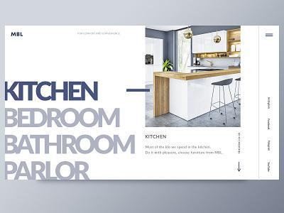 MBL - home furniture dribbble type website typography logo ux landing page brand vector people social site design ui deisgn furniture ui ux ui flat web 2019 design