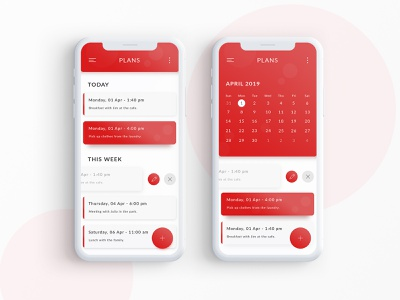 Mobile Planner APP iphone ux flat ux design mobile planner app app apps application vector social color 2019 ui design