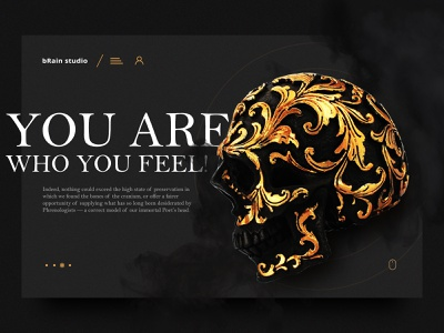 You are who you feel! people typography landing page color social web ui flat 2019 design