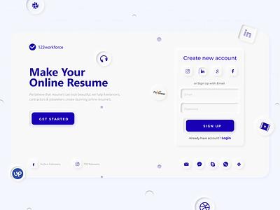 """Neomorphism 2020 """"123 workforce"""" site design app branding typography vector ux web design ui neomorphism"""
