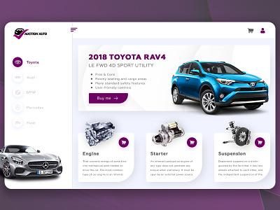 Auction Auto 2020 trend 2020 branding landing page site design ux color web flat ui design