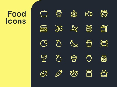 Food Icon Pack icon artwork icon pack icons iconography icon design food icons icon set icon designer design logo