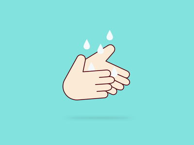 Remember to Wash your hands water drops vector animation zomato illustration covid-19 hands wash hygiene healthcare design healthy eating healthy food healthy