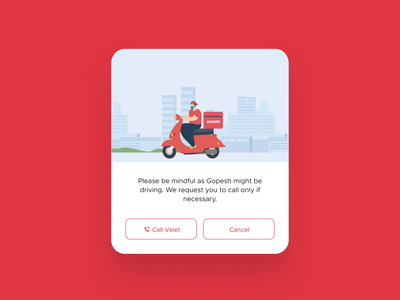 Call warnings animated gif after effects animation 2d mobile app ux design ui ux food ui design illustration animation figma zomato design