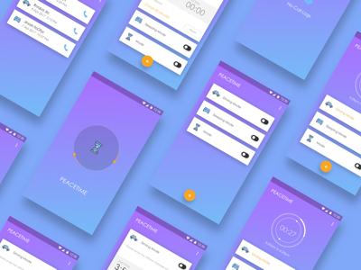 Peacetime app ux design ui design mobile app peacetime