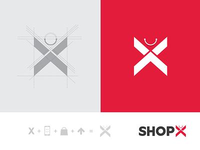 Shopx Branding design logo shopping bengaluru shopx 10i commerce services branding