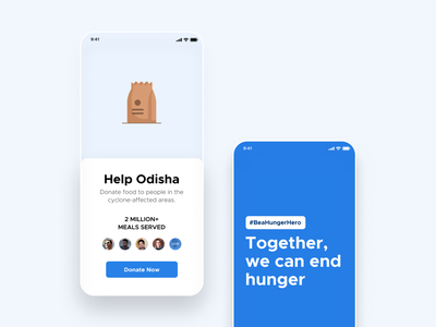 Help Odisha together meals hunger help odisha charity hungry green interaction design food design ui  ux distributed donate