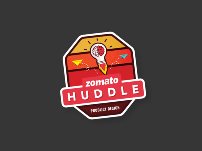 Zomato Huddle Laptop Sticker