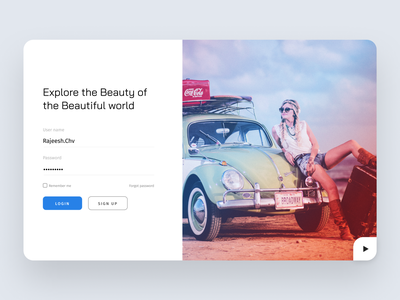 Web Login clean look clean ui beauty explore web website design design ui sign up login