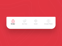 Zomato V14 - Tab Bar Interaction Concept