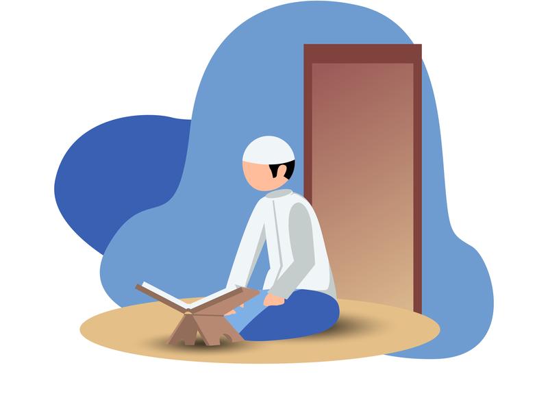 Read AL-Qur'an illustrator minimal flat ux branding ui design vector illustration