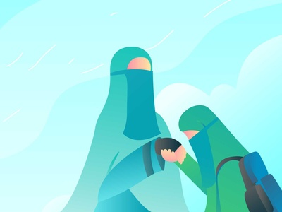 Muslimah Teacher and Student