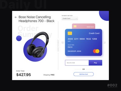 Credit Card Checkout uxdesign uidesign sketch