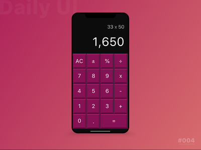 Calculator photoshop uxdesign uidesign sketch