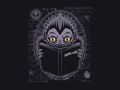 Ryuk Note japan retro cartoon design illustration vector t-shirt tee fanart manga anime death note ryuk