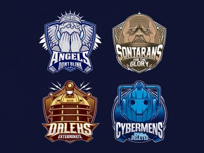 DrWho Team Logos