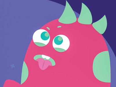 Pink monster Ilustration #1