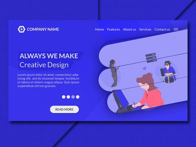 Creative Modern Landing Page Website Design Template