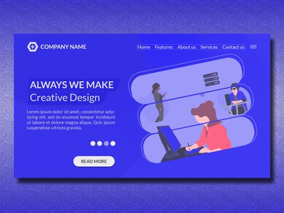 Creative Modern Landing Page Website Design Template v2
