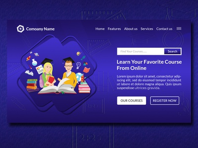 Online Education Creative Modern Landing Page Website