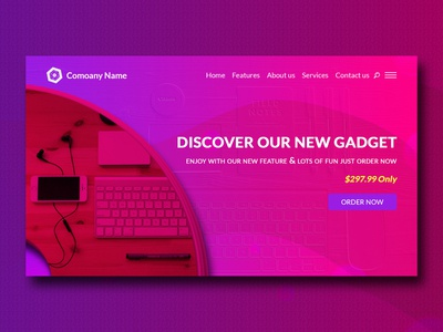 Creative Modern Product Landing Page Website Design Template