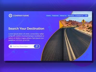 Map Location Creative Modern Landing Page Website Design Templat