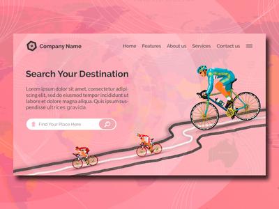 Travel Creative Modern Landing Page Website Design Template