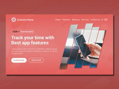 Creative Modern App Landing Page Website Design Template
