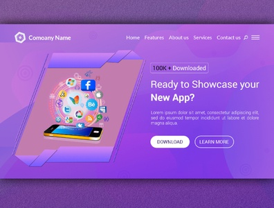 Apps Creative Modern Landing Page Website Design Template