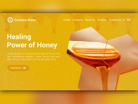 Honey Marketing Landing Page Website Design Template