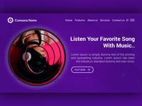 Music Web UI Landing Page Website Design Template
