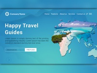 Travel Guide Landing Page Website UI Design Template