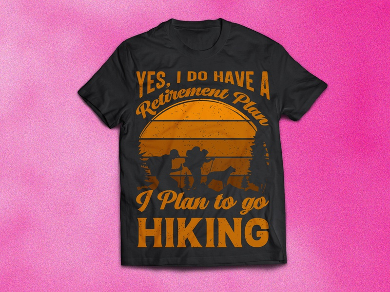 Hiking Typography Vector Print Ready T-Shirt Design hiking t-shirt design womens t shirts funny t-shirts