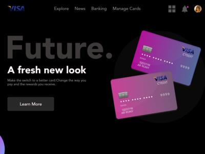 Visa Card Web Design Adobe Xd