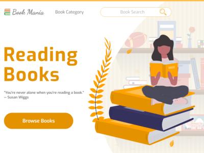 Book Mania Landing Page Design Adobe Xd
