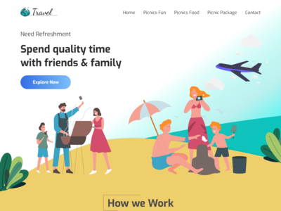 Travel Webpage Design Adobe Xd