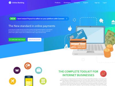 Online Banking Webpage Design Adobe Xd
