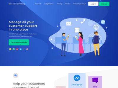 Online Marketing 1 Page Website Design Adobe Xd