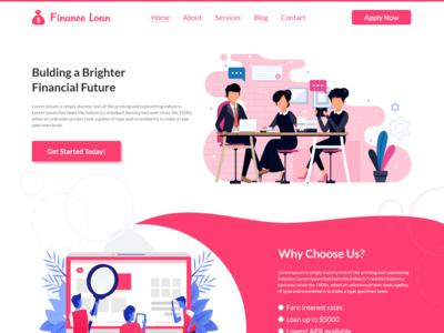 Finance Loan Webpage Design Adobe Xd
