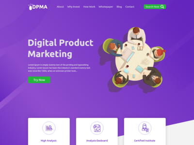 Digital Marketing Agency One Page Web Design Adobe Xd