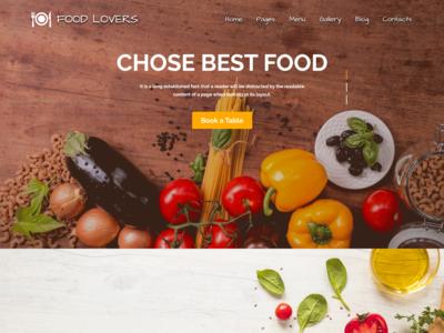 Food Webpage Design Adobe Xd