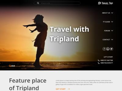 Travel Trip One Page Website Design Adobe Xd