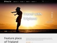 Travel Trip One Page Website Design V2 Adobe Xd