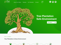 Safe Plantation One Page Web Design Adobe Xd