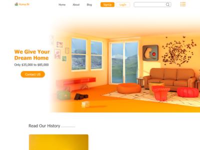 Corporate Real Estate Website Design Adobe Xd