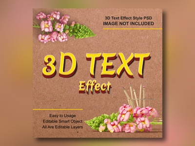 PSD 3D Text Effects Mockup