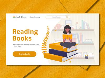 Book Mania Landing Page Design
