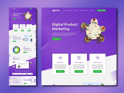 Digital Marketing Agency one Page Web Design