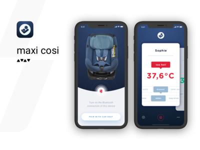 Maxi Cosi app ui ux mobile